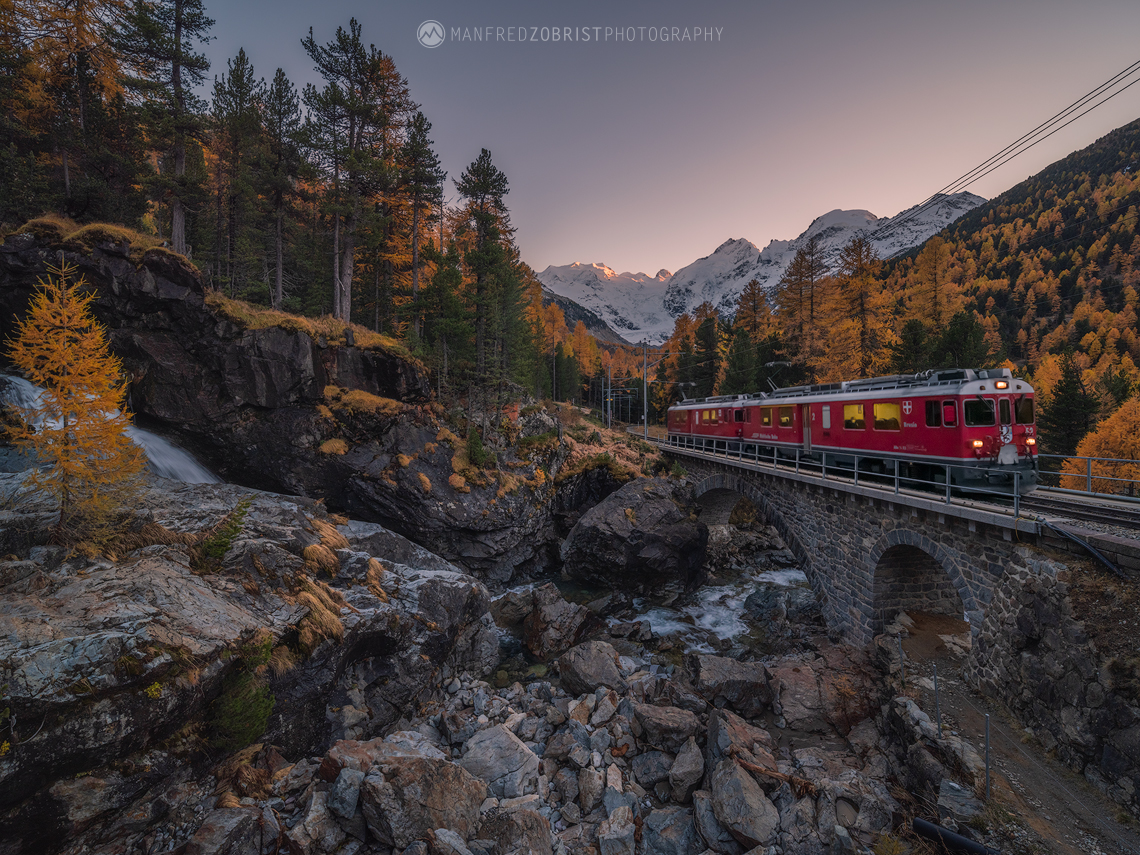 Red Bernina Train